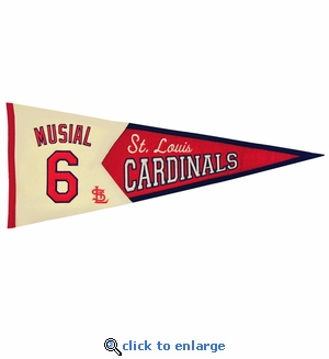 Stan Musial Legends Wool Pennant 13x 32 - St Louis Cardinals
