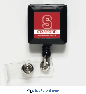 Stanford Cardinal Retractable Ticket Badge Holder