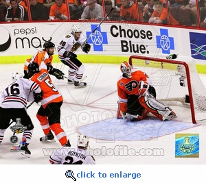 Stanley Cup 2010: Game 6: Kane Cup Winning Goal 8x10 Photo - Chicago Blackhawks
