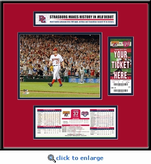 Stephen Strasburg MLB Debut Ticket Frame Jr - Nationals