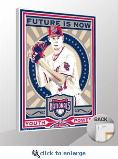 Stephen Strasburg Sports Propaganda Canvas Print - Nationals