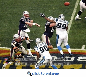 Super Bowl 38 New England Patriots Tom Brady Passing 8x10 Photo