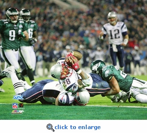 Super Bowl 39 New England Patriots Corey Dillon Touchdown 8x10 Photo