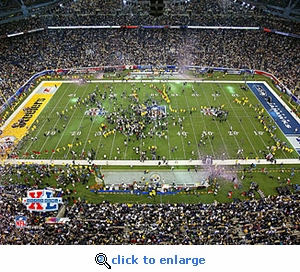 Super Bowl 40 Pittsburgh Steelers Ford Field Celebration 8x10 Photo