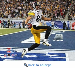 Super Bowl 40 Pittsburgh Steelers Hines Ward Touchdown 8x10 Photo