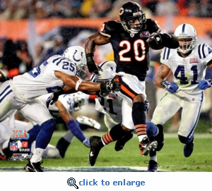 Super Bowl 41 Chicago Bears Thomas Jones 8x10 Photo
