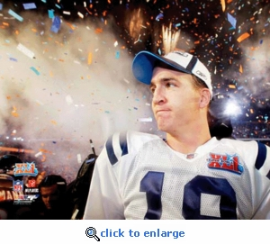 Super Bowl 41 Indianapolis Colts Peyton Manning Celebration 8x10 Photo