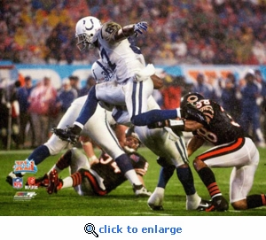 Super Bowl 41 Indianapolis Colts Reggie Wayne Action 8x10 Photo