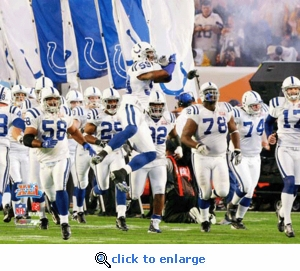 Super Bowl 41 Indianapolis Colts Team Introduction 8x10 Photo