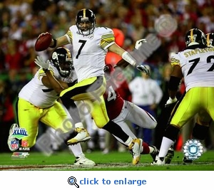 Super Bowl 43 Pittsburgh Steelers Ben Roethlisberger 8x10 Photo