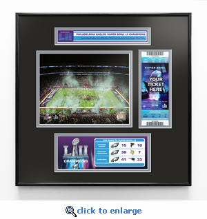 Super Bowl LII (52) Champions Ticket Frame Jr - Philadelphia Eagles