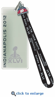 Super Bowl XLVI (46) Lanyard, Ticket Holder & Pin - Indianapolis - New York Giants