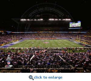 Super Bowl XLVI (46) Lucas Oil Stadium Overhead 8 x10 Photo - New York Giants