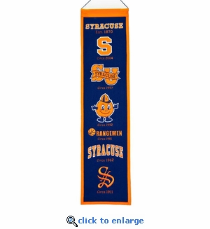 Syracuse Orange Heritage Wool Banner (8 x 32)
