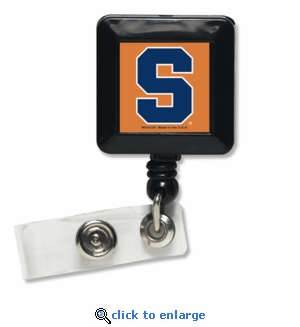 Syracuse Orange Retractable Ticket Badge Holder