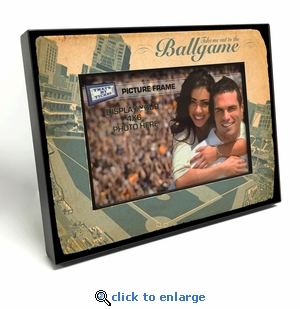 Take Me Out to the Ballgame Black Wood Edge 4x6 inch Baseball Picture Frame