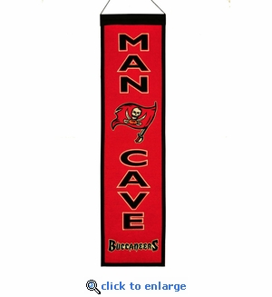 Tampa Bay Buccaneers Man Cave Wool Banner (8 x 32)