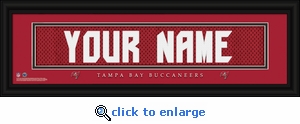 Tampa Bay Buccaneers Personalized Stitched Jersey Nameplate Framed Print
