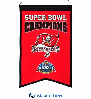 Tampa Bay Buccaneers Super Bowl Champions Wool Banner (14 x 22)