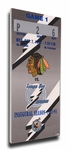 Tampa Bay Lightning Inaugural Game Canvas Mega Ticket