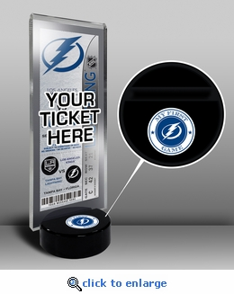 Tampa Bay Lightning My First Game Hockey Puck Ticket Stand