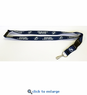 Tampa Bay Lightning NHL Lanyard Key Chain with Ticket Holder
