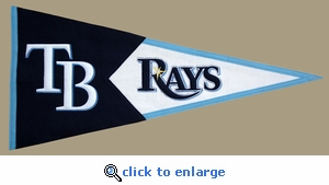 Tampa Bay Rays Classic Wool Pennant (17.5 X 40.5)