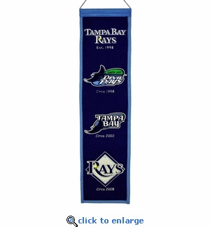 Tampa Bay Rays Heritage Wool Banner (8 x 32)