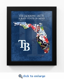 Tampa Bay Rays Personalized State of Mind Framed Print - Florida