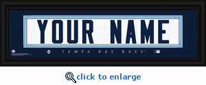 Tampa Bay Rays Personalized Stitched Jersey Nameplate Framed Print
