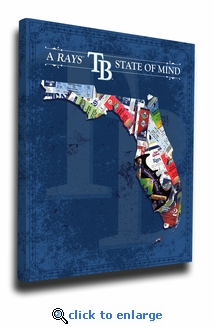 Tampa Bay Rays State of Mind Canvas Print - Florida