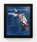 Tampa Bay Rays State of Mind Framed Print - Florida