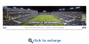 TCU Horned Frogs Football - End Zone - Panoramic Photo (13.5 x 40)