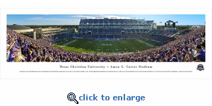 TCU Horned Frogs Football - Panoramic Photo (13.5 x 40)