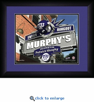 TCU Horned Frogs Personalized Sports Room / Pub Print