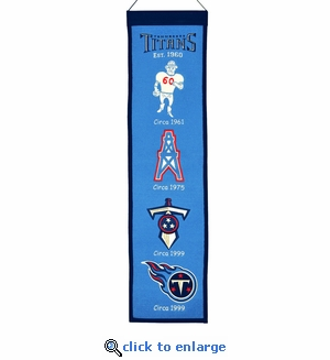 Tennessee Titans Heritage Wool Banner (8 x 32)