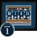 Tennessee Titans Personalized Locker Room Print