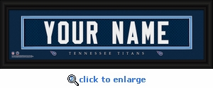Tennessee Titans Personalized Stitched Jersey Nameplate Framed Print