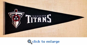 Tennessee Titans Throwback Wool Pennant (13 x 32)