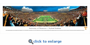 Tennessee Volunteers Football - Power T - Panoramic Photo (13.5 x 40)