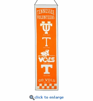 Tennessee Volunteers Heritage Wool Banner (8 x 32)