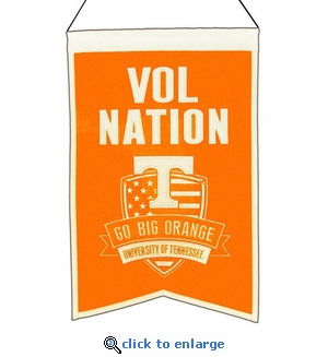 Tennessee Volunteers Nations Wool Banner (14 x 22)
