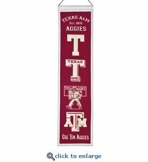 Texas A&M Aggies Heritage Wool Banner (8 x 32)