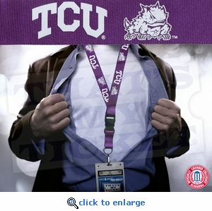 Texas Christian University (TCU) Horned Frogs NCAA Lanyard Key Chain and Ticket Holder