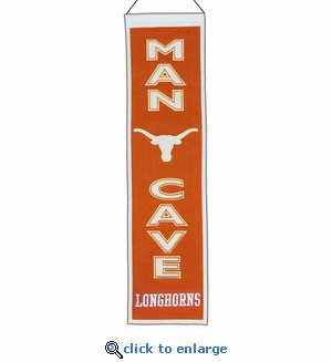 Texas Longhorns Man Cave Wool Banner (8 x 32)