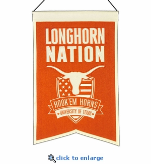 Texas Longhorns Nations Wool Banner (14 x 22)