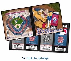 Texas Rangers Mascot Ticket Album - Rangers Captain