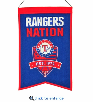 Texas Rangers Nations Wool Banner (14 x 22)