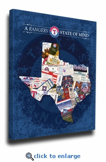 Texas Rangers State of Mind Canvas Print