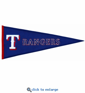 Texas Rangers Traditions Wool Pennant (13 x 32)
